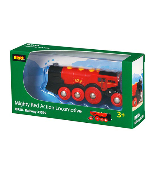 BRIO WORLD – GRANDE LOCOMOTIVA ROSSA A BATTERIE