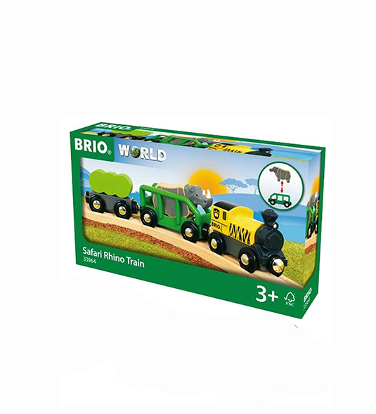 BRIO WORLD – TRENO PER SAFARI CON RINOCERONTE
