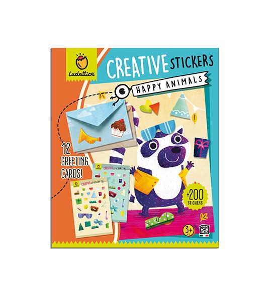 CREATIVE STICKERS – HAPPY ANIMALS