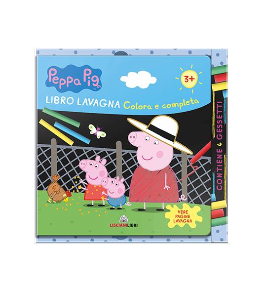 LIBRO LAVAGNA – COMPLETA E COLORA CON PEPPA PIG